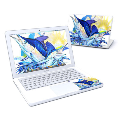 MacBook 13in Skin - Blue White and Yellow