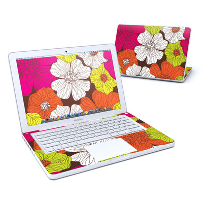 MacBook 13in Skin - Brown Flowers