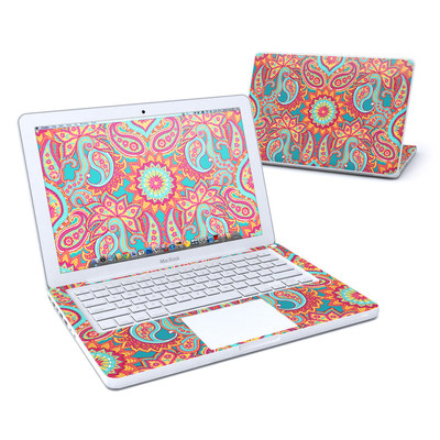 MacBook 13in Skin - Carnival Paisley