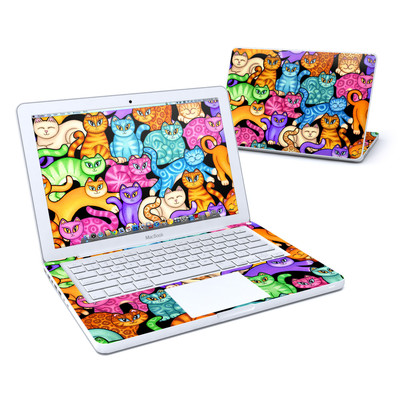 MacBook 13in Skin - Colorful Kittens