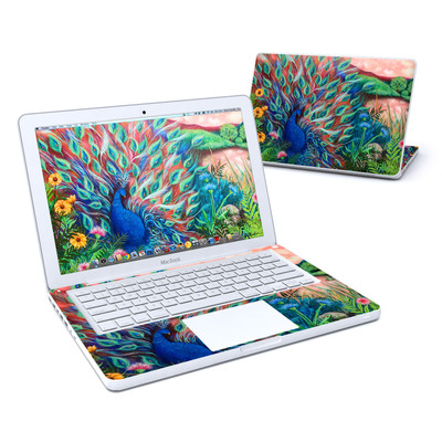 MacBook 13in Skin - Coral Peacock