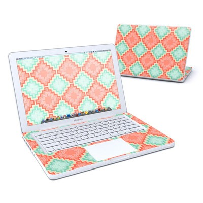 MacBook 13in Skin - Coral Diamond