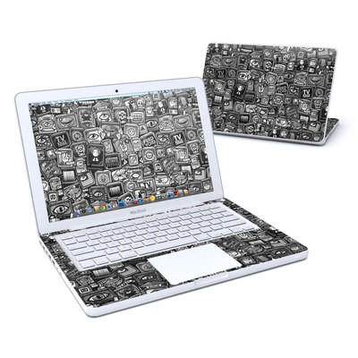 MacBook 13in Skin - Distraction Tactic B&W