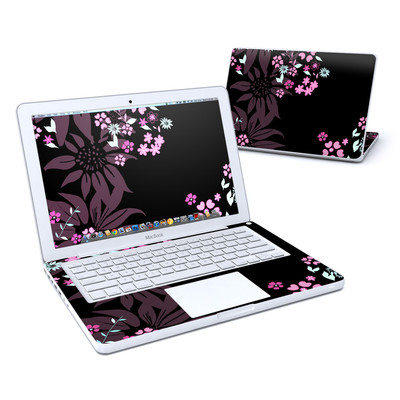 MacBook 13in Skin - Dark Flowers