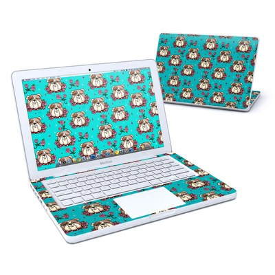 MacBook 13in Skin - Bulldogs and Roses