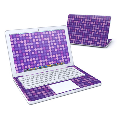 MacBook 13in Skin - Big Dots Purple