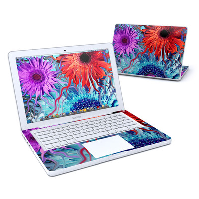MacBook 13in Skin - Deep Water Daisy Dance