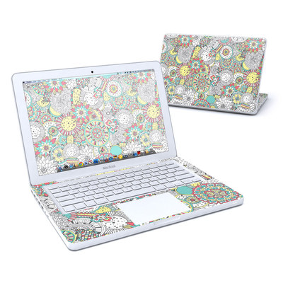 MacBook 13in Skin - Faded Floral