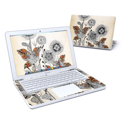 MacBook 13in Skin - Four Flowers