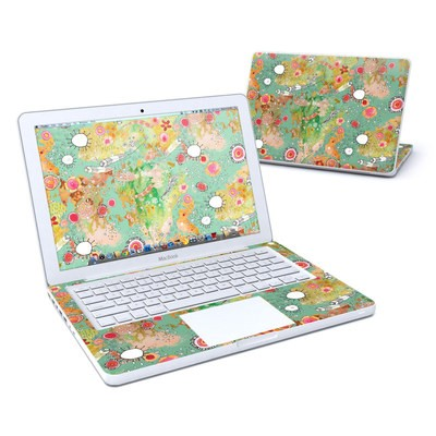 MacBook 13in Skin - Feathers Flowers Showers