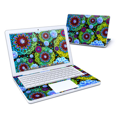 MacBook 13in Skin - Funky Floratopia