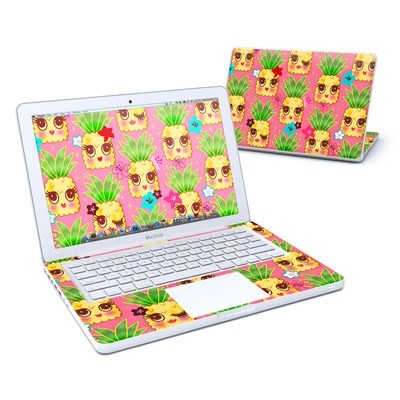 MacBook 13in Skin - Happy Kawaii Pineapples