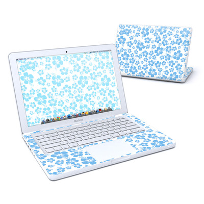 MacBook 13in Skin - Turquoise Hibiscus