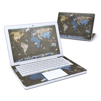 MacBook 13in Skin - Jean Map