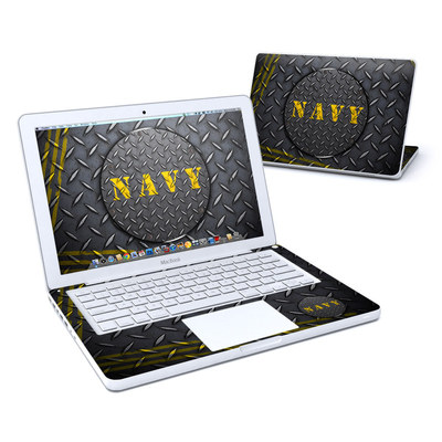 MacBook 13in Skin - Navy Diamond Plate