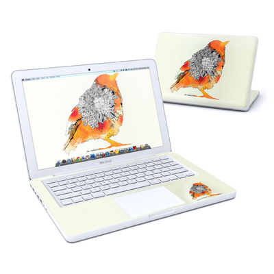 MacBook 13in Skin - Orange Bird