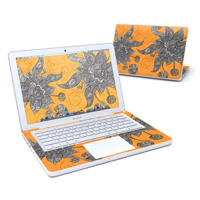 MacBook 13in Skin - Orange Flowers