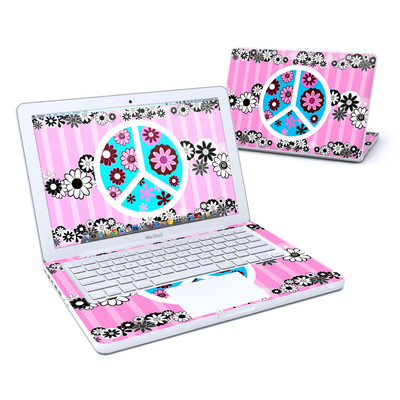 MacBook 13in Skin - Peace Flowers Pink