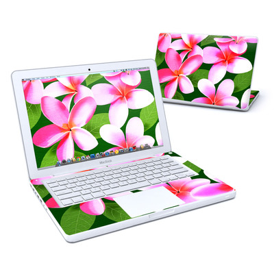MacBook 13in Skin - Pink Plumerias