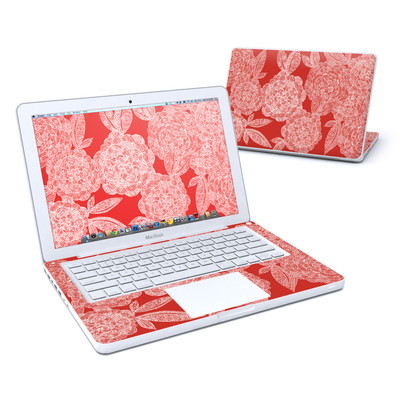 MacBook 13in Skin - Red Dahlias