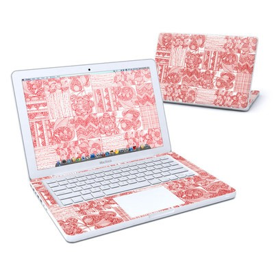 MacBook 13in Skin - Red Quilt