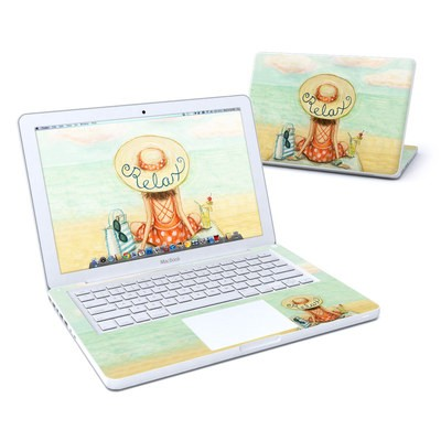 MacBook 13in Skin - Relaxing on Beach