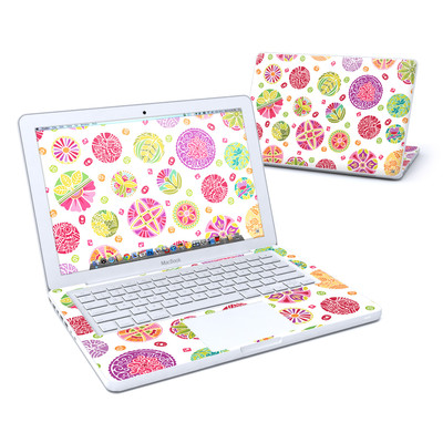 MacBook 13in Skin - Round Flowers