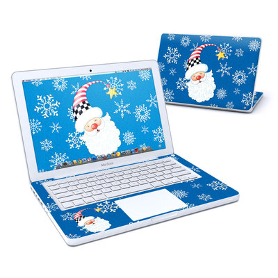 MacBook 13in Skin - Santa Snowflake