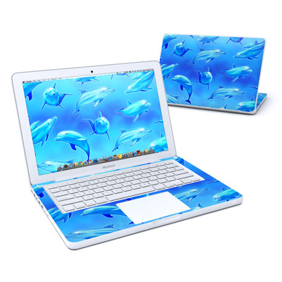 MacBook 13in Skin - Swimming Dolphins