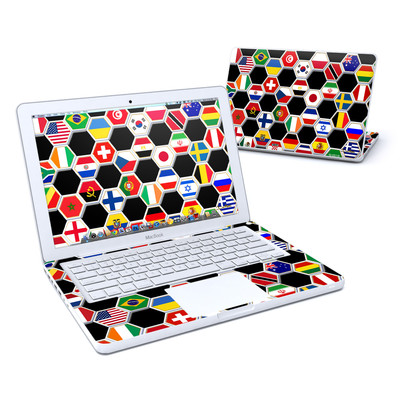 MacBook 13in Skin - Soccer Flags