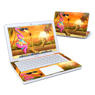 MacBook 13in Skin - Sunset Flamingo