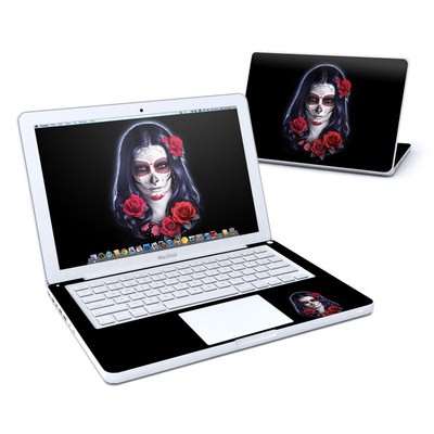 MacBook 13in Skin - Sugar Skull Rose