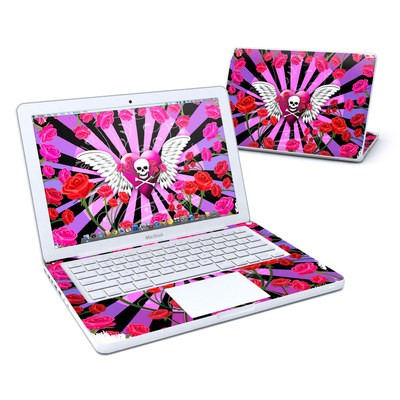 MacBook 13in Skin - Skull & Roses Pink