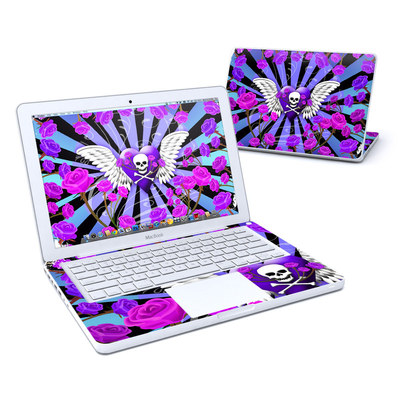 MacBook 13in Skin - Skull & Roses Purple
