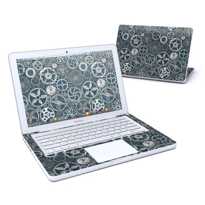 MacBook 13in Skin - Silver Gears