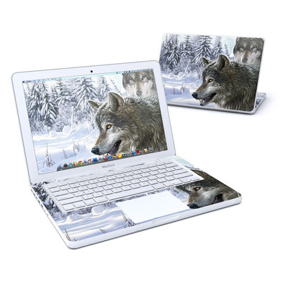 MacBook 13in Skin - Snow Wolves