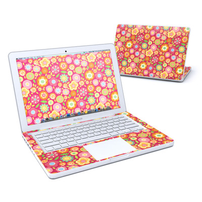 MacBook 13in Skin - Flowers Squished