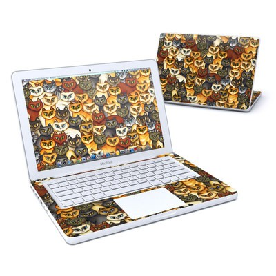 MacBook 13in Skin - Stacked Cats