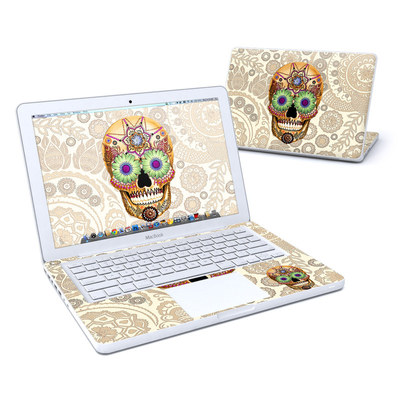MacBook 13in Skin - Sugar Skull Bone