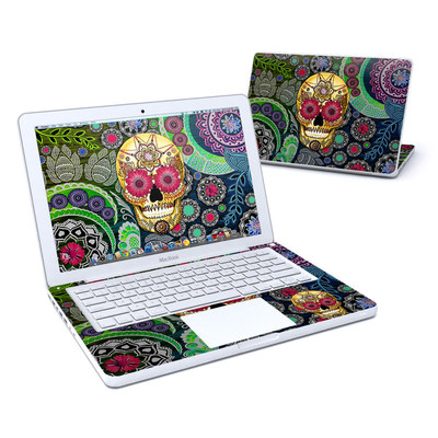 MacBook 13in Skin - Sugar Skull Paisley