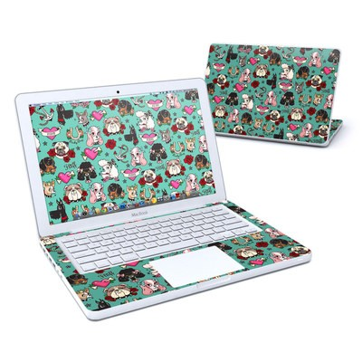 MacBook 13in Skin - Tattoo Dogs