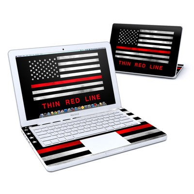 MacBook 13in Skin - Thin Red Line