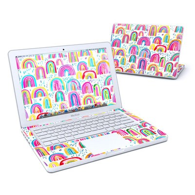 MacBook 13in Skin - Watercolor Rainbows