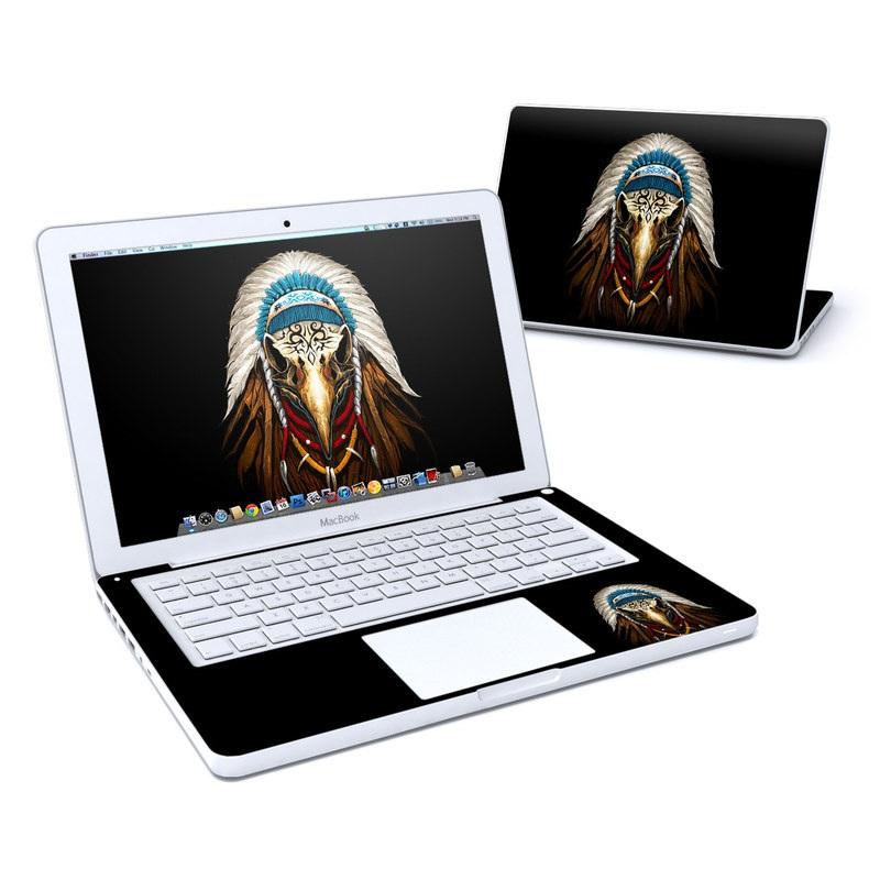Eagle Skull By Abrar Ajmal: MacBook 13in Skin - Eagle Skull By Abrar Ajmal