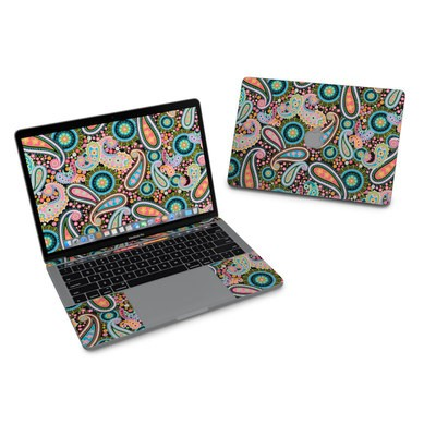 MacBook Pro 13in (2016) Skin - Crazy Daisy Paisley
