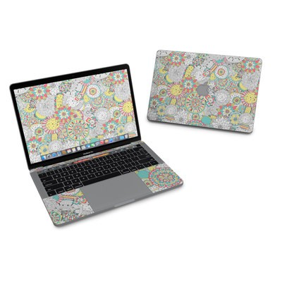 MacBook Pro 13in (2016) Skin - Faded Floral