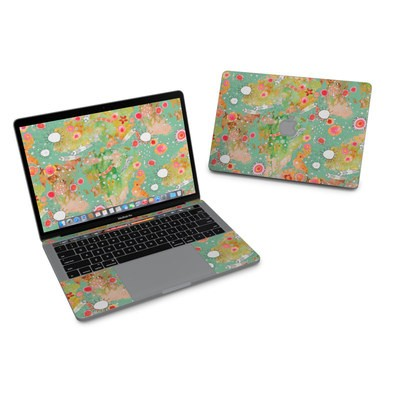 MacBook Pro 13in (2016) Skin - Feathers Flowers Showers