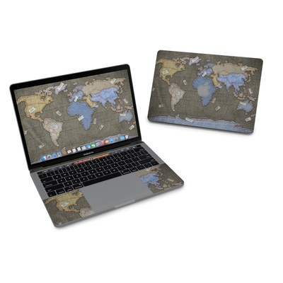 MacBook Pro 13in (2016) Skin - Jean Map