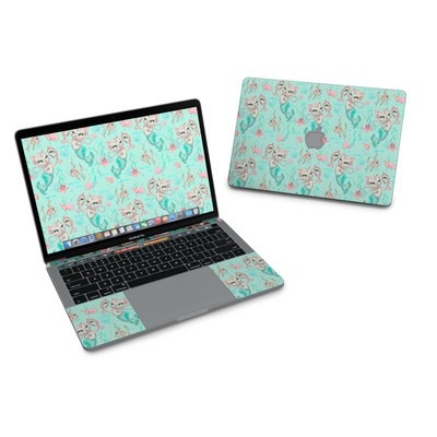 MacBook Pro 13in (2016) Skin - Merkittens with Pearls Aqua