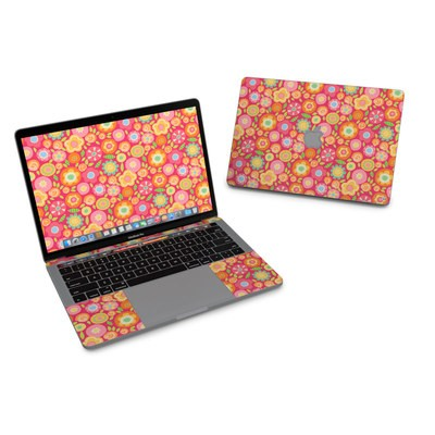 MacBook Pro 13in (2016) Skin - Flowers Squished